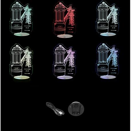 Lampe de Mineur et Chevalement