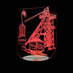 Wagonnet berline Lampe de Mineur et Chevalement